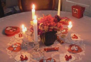 Recette pour un dîner romantique comme des relations chaleureuses prélude