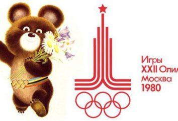 Igrzyska Olimpijskie w Moskwie w 1980 roku: ceremoniach otwarcia i zamknięcia. Wyniki Olimpiady