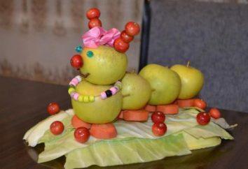 Artigos de frutas com suas próprias mãos para a criatividade das crianças