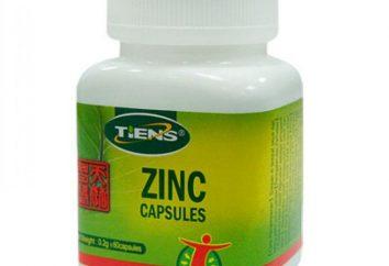 """Capsule con lo zinco, """"Tiens"""": applicazione e recensioni"""