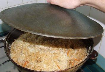 Pilaf in un calderone. Ricetta piatti uzbeki