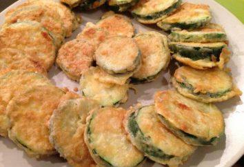 Cukinia, smażone w mące: przepisy kulinarne i cechy gotowania