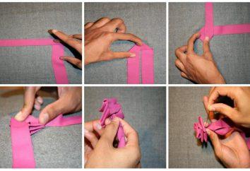 Bukiet ślubny z wstążki satynowe z ich rąk. Jak zrobić oryginalny bukiet wstążkami