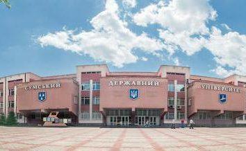 Sumy State University: adresowe, wydziały, specjalności