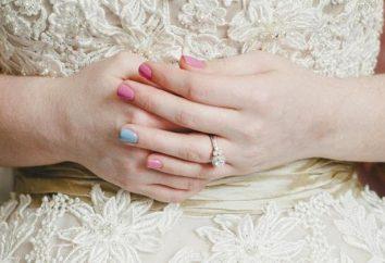 Hochzeit Maniküre Gel-Lack: die Modetrends, Fotos