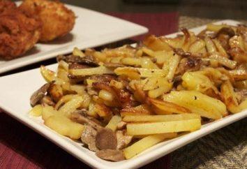 Il cibo in ogni momento: funghi, patate fritte