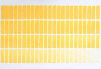 Pierwsze żółty odcień. Kolorów i odcieni. Odcienie żółtego. Jak uzyskać żółty barwnik. Żółty kolor w odzieży i wnętrz