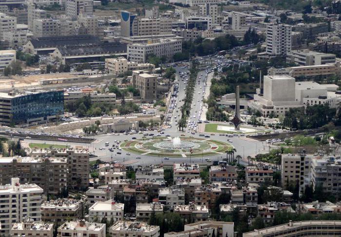 Syrien Hauptstadt Damaskus: Bevölkerung, Fläche, Beschreibung
