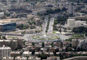 Siria capital, Damasco: población, superficie, descripción