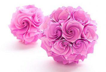 Papier Origami. Piękne kwiaty z papieru: Schemat