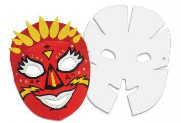 Como fazer máscaras de papel com as mãos em uma noite