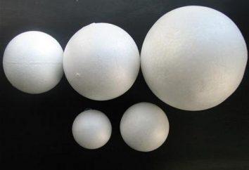 palline di polistirolo e artigianato, tra cui: workshop, idee e descrizioni. Pupazzo di neve da palline in gommapiuma
