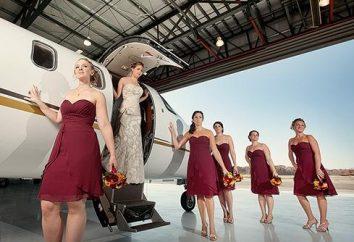 Prix de mariée dans le style des compagnies aériennes