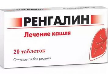 Médicaments contre la toux « Rengalin »: mode d'emploi, analogues, commentaires