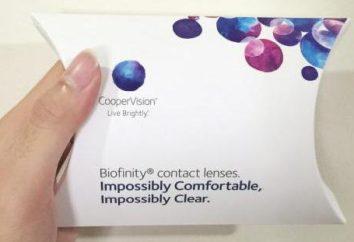 Biofinity – lentilles de contact. Description, types, instructions, commentaires