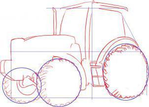 comment dessiner un tracteur instructions tape par tape. Black Bedroom Furniture Sets. Home Design Ideas