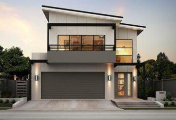 Uma casa layout e design de dois andares