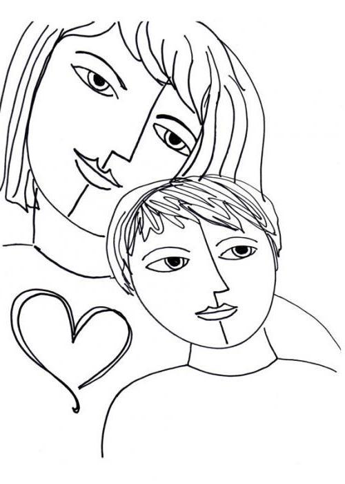 Souvent Come disegnare un bambino con la madre: opzioni e suggerimenti QZ65