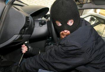Urządzenie zabezpieczające przed kradzieżą pojazdu za pomocą pedału