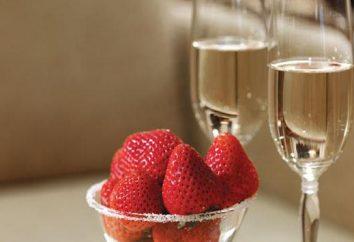 Champagner mit Erdbeeren. Alkoholische Cocktails: Rezepte