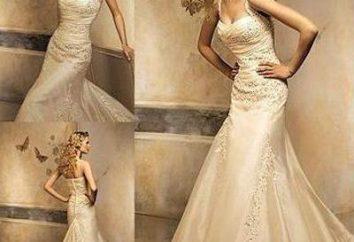 As tendências da moda. vestido de casamento: a cor de marfim