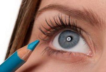 École de beauté: yeux gris-bleu et des règles de maquillage