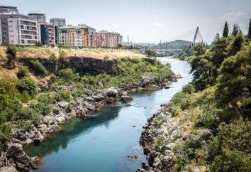 A capital do Montenegro e das suas principais atracções. Podgorica: cidade de passas