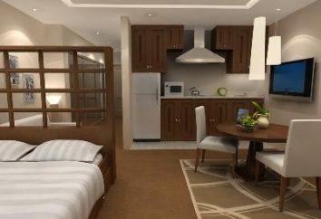 Die ursprünglichen und stilvollen Interieur Studio-Apartments