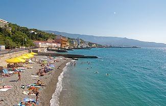 Praia Yalta: fotos e comentários. praia Massandra