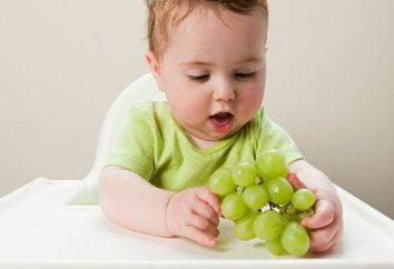 Le schéma complémentaire pour l'OMS. Lure: une table par mois. Aliments pour bébés