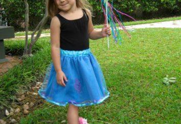 La falda mullida para las niñas. Actualizar sus propias manos un pequeño armario de la princesa