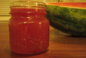 Wie Marmelade aus Wassermelone Fruchtfleisch, Schale und Saft vorzubereiten?