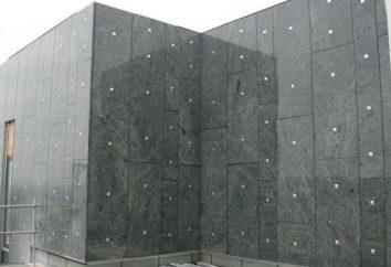 La façade de granit: l'installation et caractéristiques de l'installation