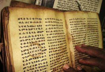 Etiopski alfabet. Etiopski pismo alfabetyczno-sylabiczne. Dlaczego etiopski alfabet jest podobna do Armenii