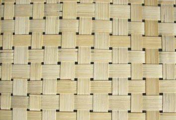 painel de bambu no interior