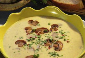Soupe au fromage aux champignons: recettes pour un déjeuner délicieux et nutritif