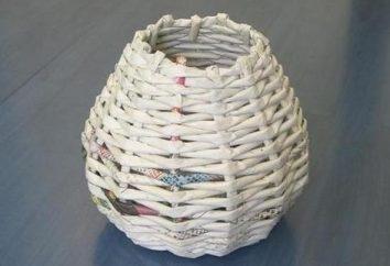 tafetá dos jornais – o início de uma cesta de vime para flores