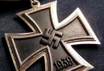 Croix de la Croix de fer de chevalier: description, degré. Prix du Troisième Reich