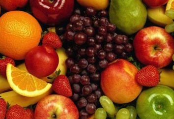Lista de frutas. fruta doce. frutas russo