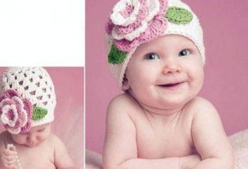 Drutach czapka dla noworodka szydełka