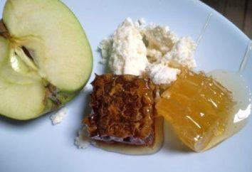 O produto é embalado abelhas. Como comer mel no pente?
