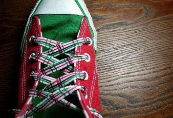 détail élégant: comment attacher les lacets sur baskets
