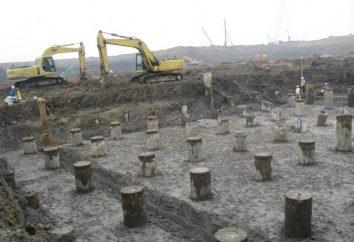 Usamos fundação rostverkovy para a construção da casa