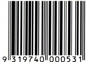 El código de barras de bienes y productos