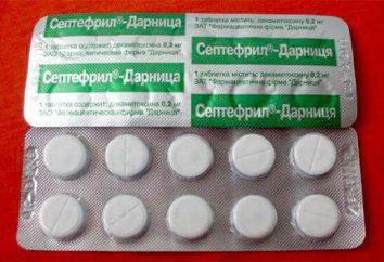 "Tabletten Instructions ""Septefril"". Anwendung und Analoga"
