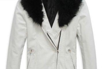 vestes en cuir d'hiver avec des hommes de la fourrure – une protection fiable dans les jours froids