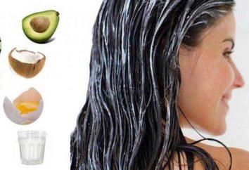 Maska Przepis na włosy w domu. Maski do wzrostu włosów i gęstości