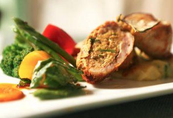 rollo de pollo con champiñones y queso: una receta con fotos. Cómo cocinar rollo de pollo con champiñones y queso en hoja en el horno?
