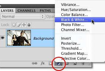 """Jak w """"Photoshop"""", aby czarno-białą fotografię, w tym elementów kolorystycznych"""