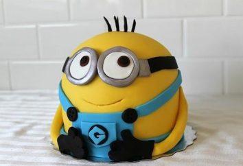 Préparation pour la fête des enfants: gâteau « Mignon » comme un cadeau